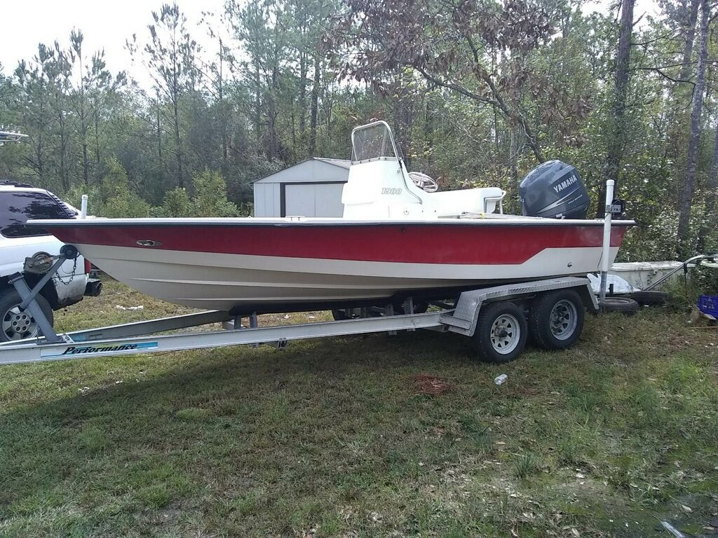Red Boat Painted by Wilmington Boat Services